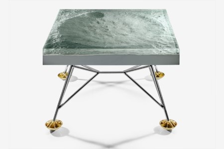 This Moon-Surface Coffee Table Definitely Isn't a Hoax