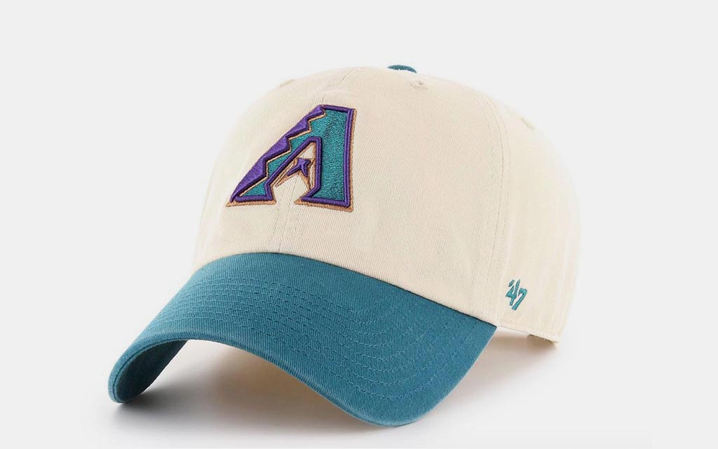 """timeless design efdb2 f01cb ... we re an expansion team!"""" than naming a club the Diamondbacks was  making its color scheme purple and teal. And yet … this  47 brand cap ..."""