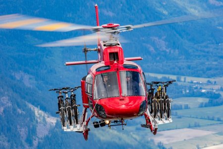 Your New Favorite Extreme Sport Involves a Trail, a Bicycle and a Helicopter