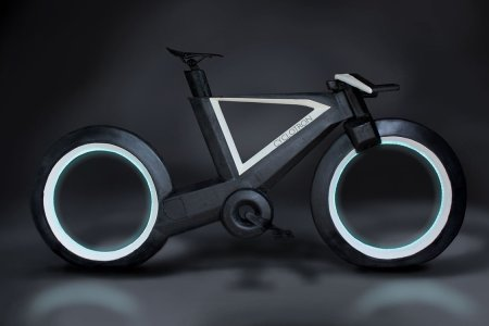 TRON-Style Bike Has No Spokes, Can Still Do Bike Things