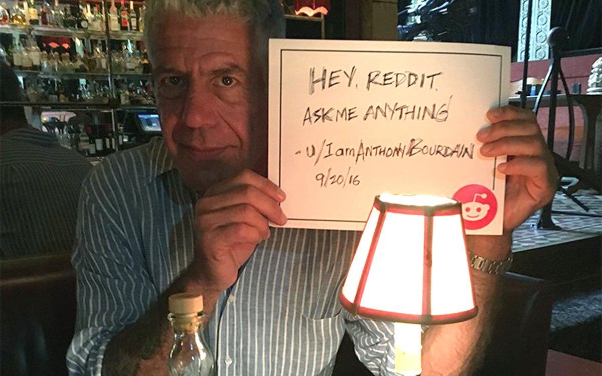 ca419cb9ab8 Anthony Bourdain s Reddit AMA Takes Pumpkin Spice - InsideHook