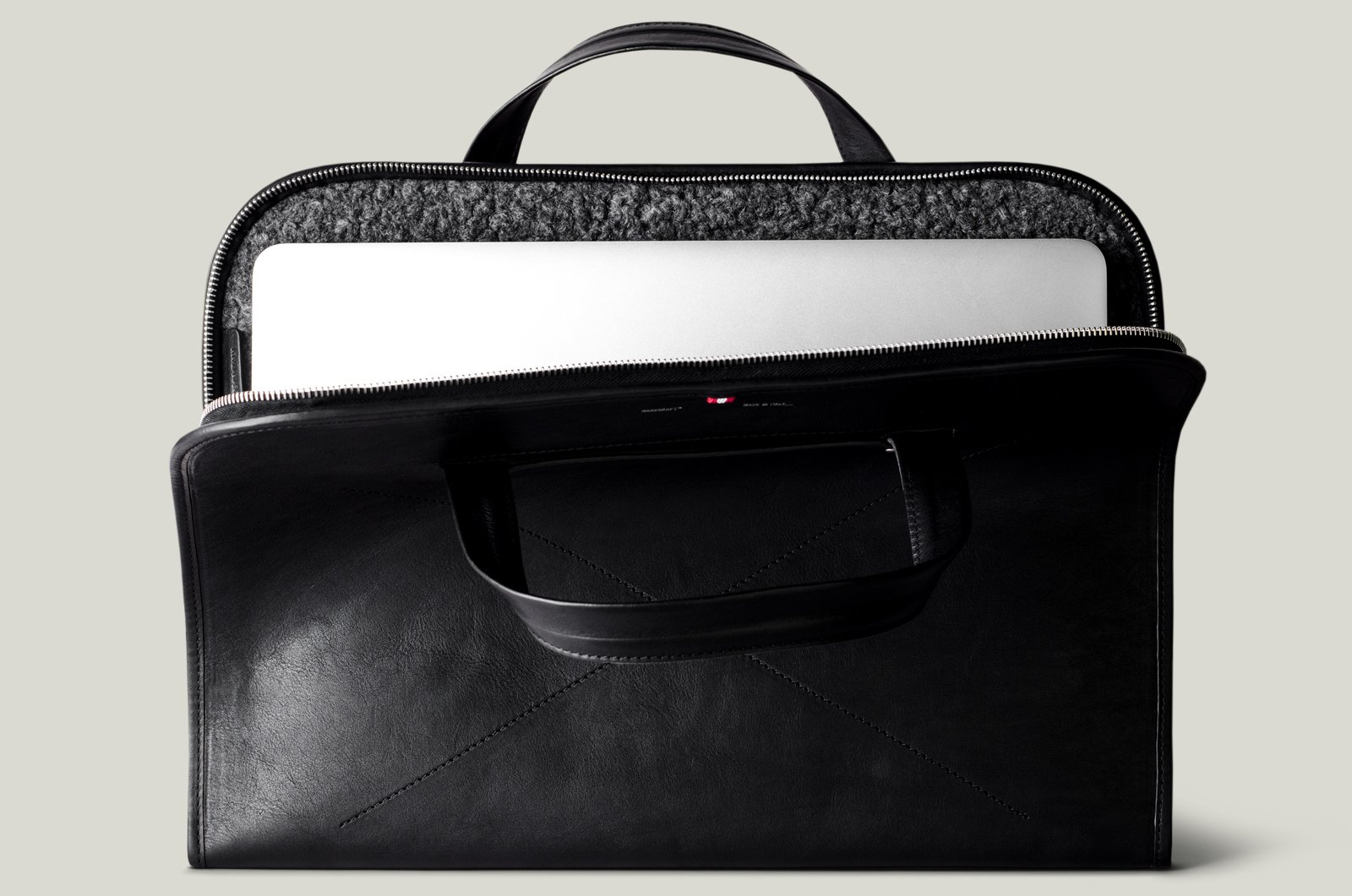 2f3a12826 For none more black  Hardgraft Home Briefcase A veg-tanned coal beauty from  our favorite leather wares maker