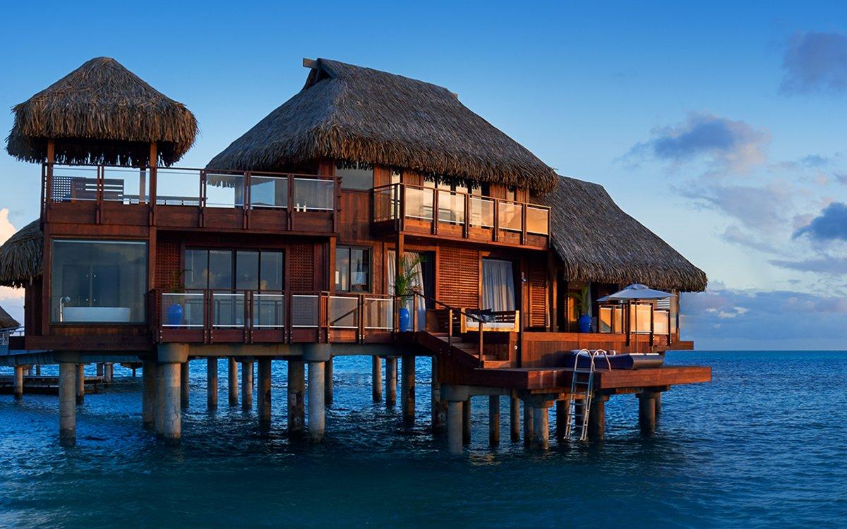 Conrad Bora Bora Nui Resort Has Two Story Bungalows Insidehook