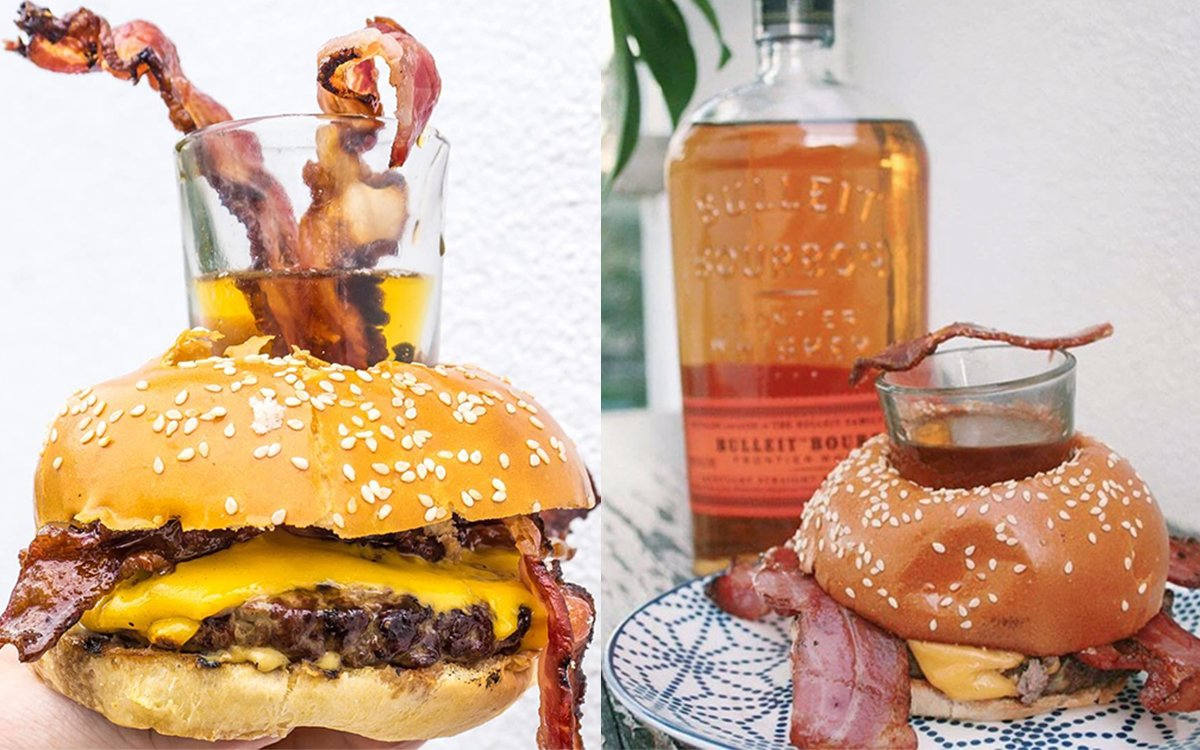 The Bourbon Bagel Bacon Burger: Now a Terrifying, Delicious Thing