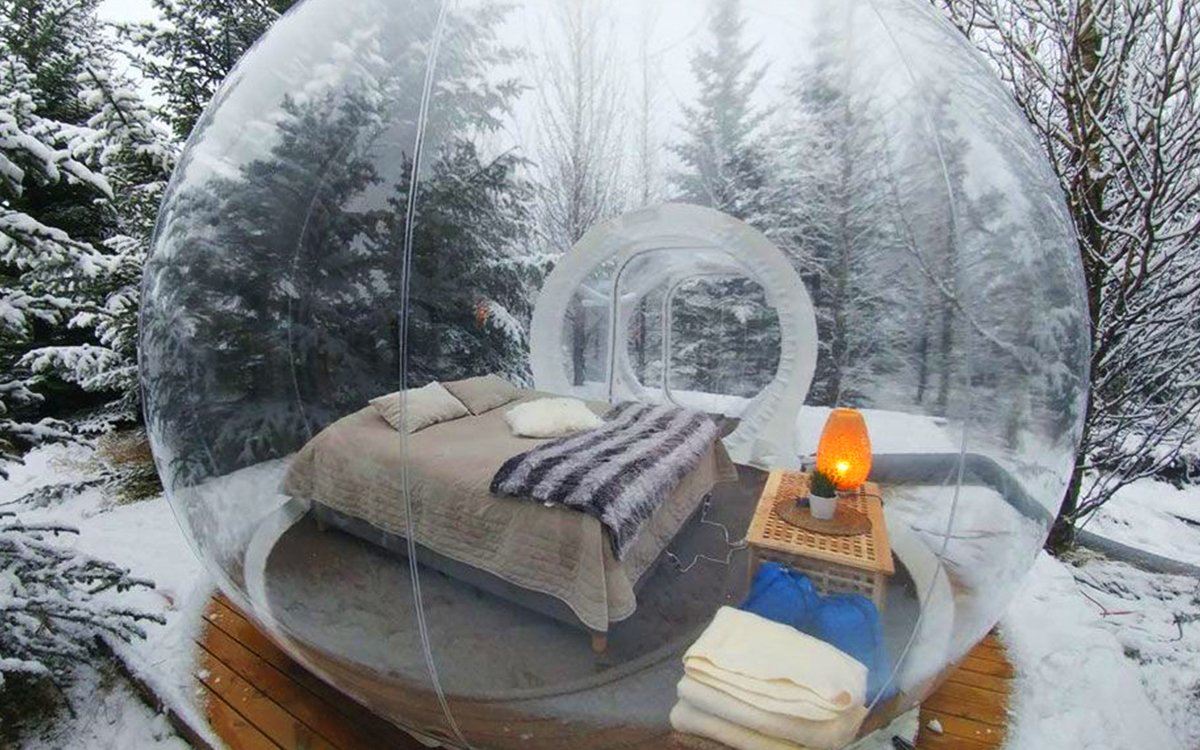 Iceland's 'Buubble' Hotel Is Big on Views, Less Big on Privacy