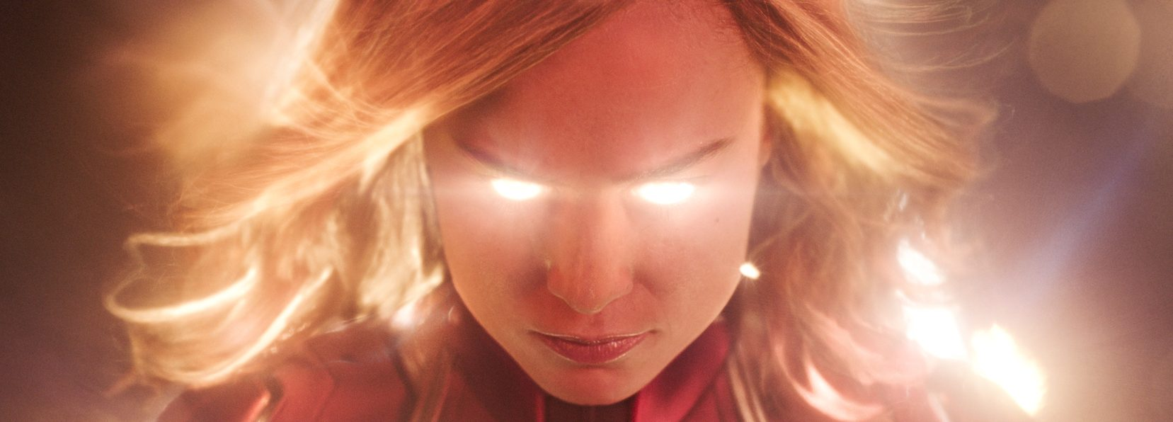 She's ready for her closeup:  Brie Larson in Marvel Studios' CAPTAIN MARVEL (©Marvel Studios)