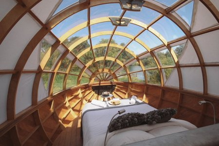 Want to Sleep in a Riverside Spaceship Guest House? Because You Can.