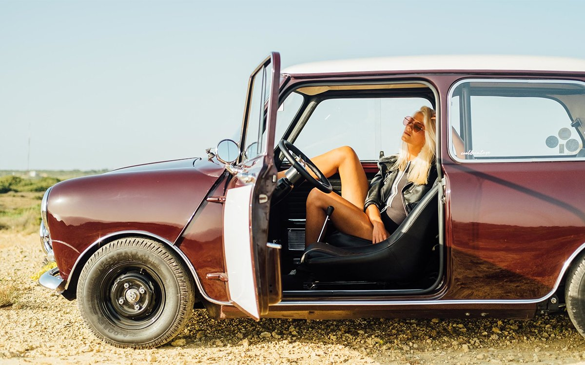 We Talked to a Guy Who Takes Pictures of Models in Vintage Cars for a Living