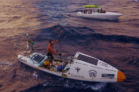 A Human Man Just Crossed the Atlantic on a Stand-Up Paddle Board