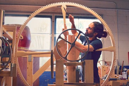 If You Need a Giant Handmade Wooden Clock, We Know a Guy