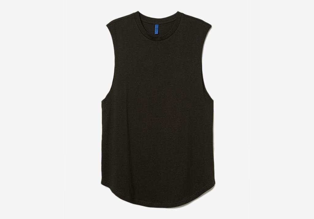 H&M Sleeveless T-Shirt Cotton Freshen Up: Superhuman