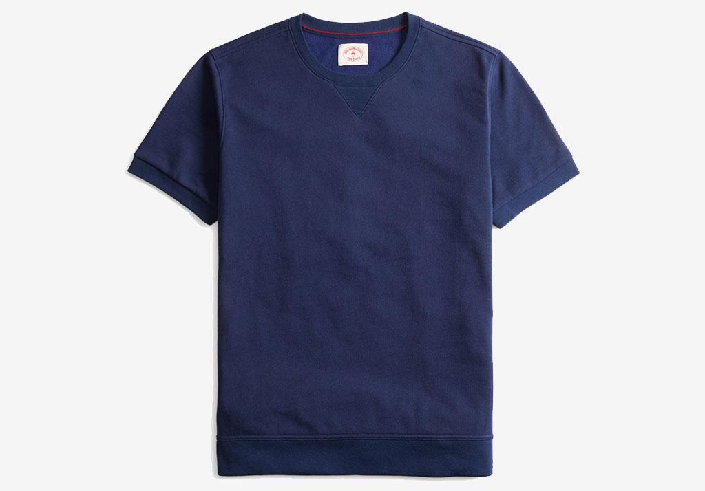 Brooks Brothers French Terry Short Sleeve Sweatshirt Cotton Freshen Up: Superhuman