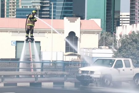 Dubai Is Fighting Fires With Water-Powered Hoverboards Because Dubai