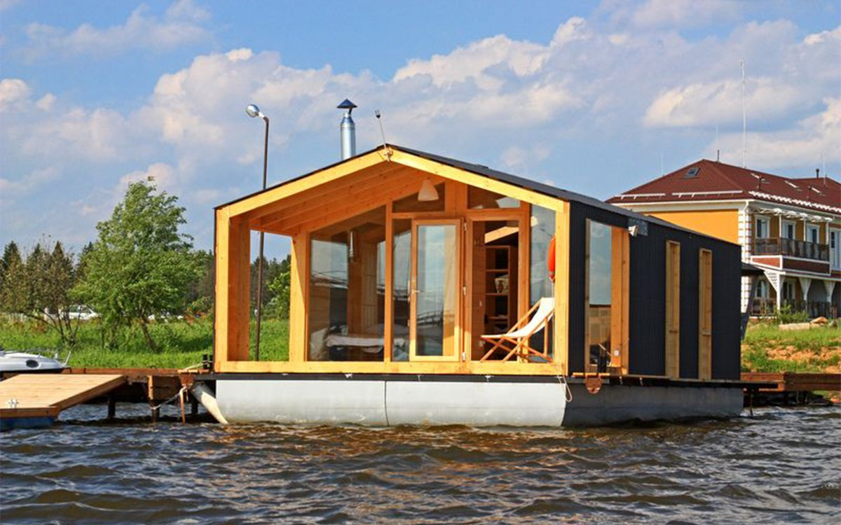 This Houseboat Comes in a Box, Can Be Built in a Day