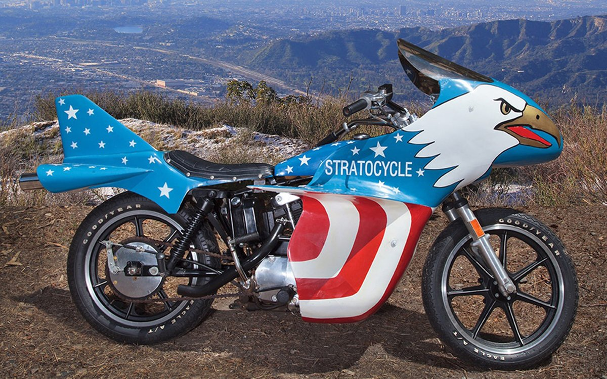 Evel Knievel S Movie Bike Up For Auction: Evel Knievel's Stratocycle Up For Sale