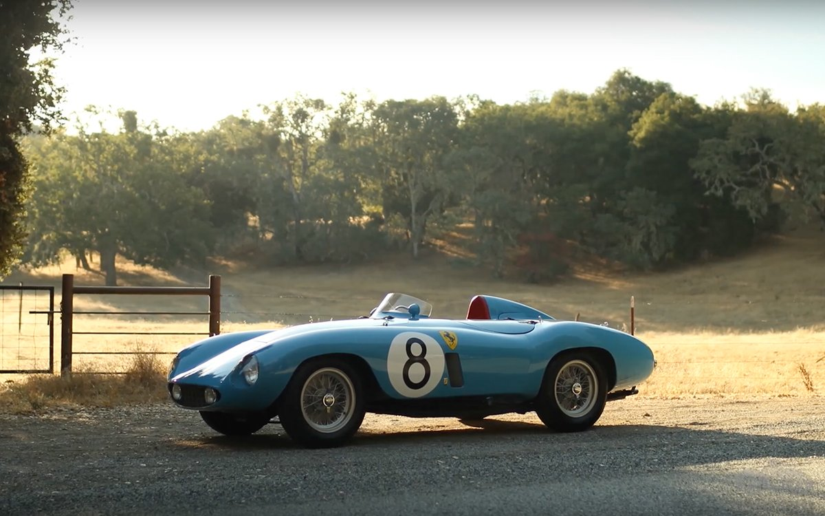 Look Upon This Powder Blue 1955 Ferrari and See That It Is Perfect