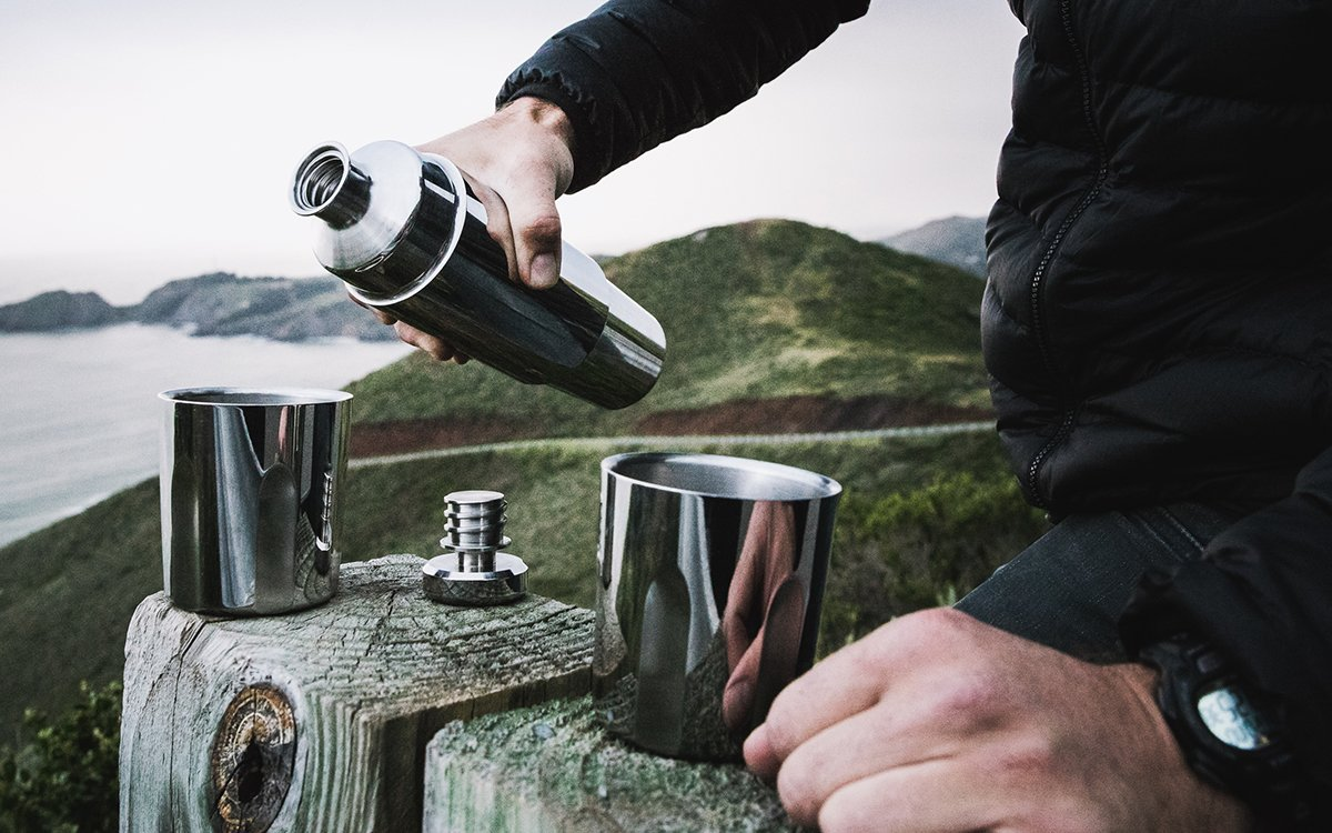 This Whiskey Thermos Comes With Built-In Tumblers
