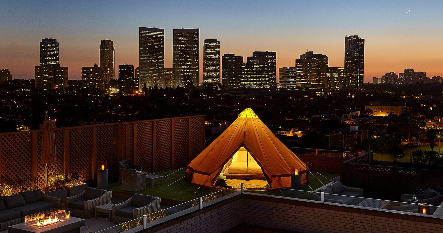 The Beverly Wilshire Just Put a Campsite on the Roof