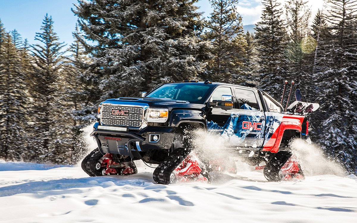 Meet the Truck That Grew Up to Be a Snowmobile