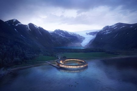 Norway's Most Popular Glacier Is Getting a 360-Degree Hotel