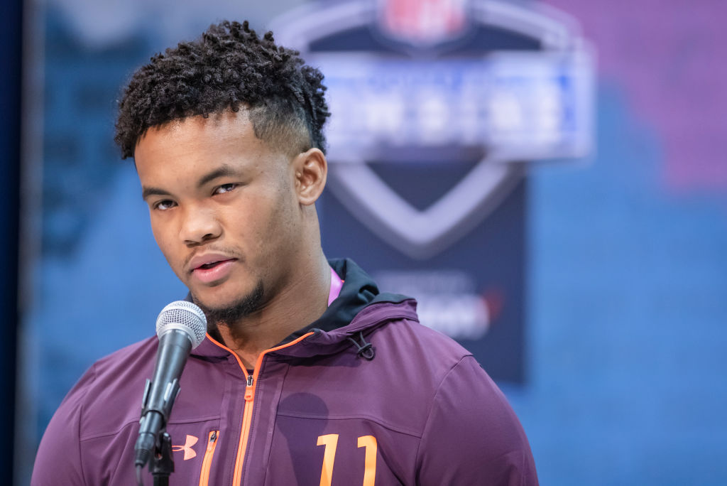 INDIANAPOLIS, IN - MARCH 1: Kyler Murray #QB11 of the Oklahoma Sooners is seen at the 2019 NFL Combine at Lucas Oil Stadium on March 1, 2019 in Indianapolis, Indiana. (Photo by Michael Hickey/Getty Images)