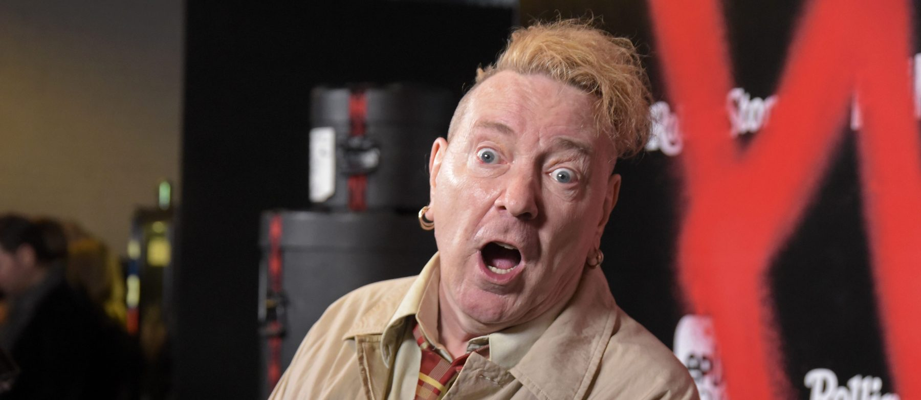 "Singer John Lydon of the Sex Pistols attends the Los Angeles premiere of the EPIX Original Docu-Series ""PUNK"" at SIR on March 04, 2019 in Los Angeles, California. (Photo by Michael Tullberg/FilmMagic)"