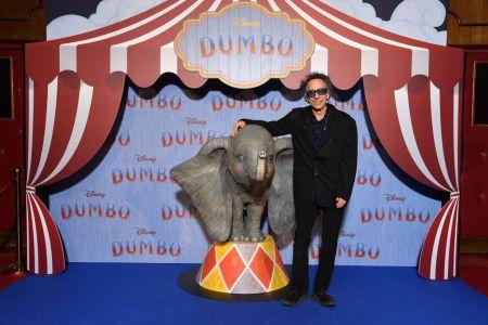 "Tim Burton at Paris screening of ""Dumbo."" Getty Images)"