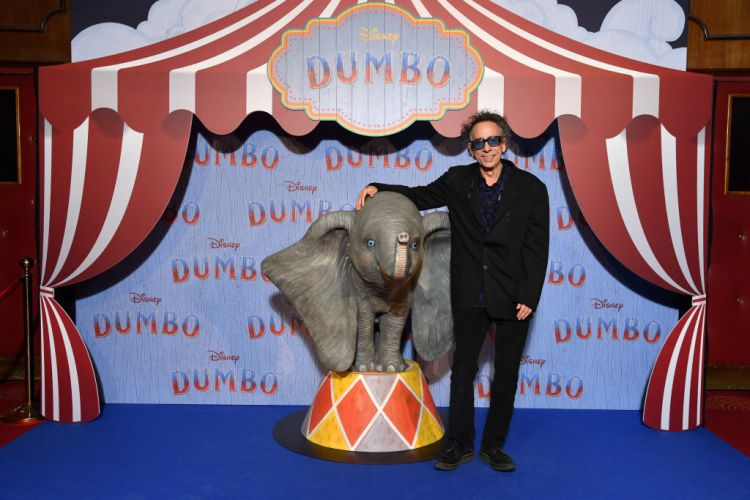 "Tim Burton at Paris screening of ""Dumbo."" Getty Images)"