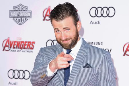 "Actor Chris Evans arrives at the Los Angeles Premiere Marvel's ""Avengers Age Of Ultron"" at Dolby Theatre on April 13, 2015 in Hollywood, California.  (Photo by Jon Kopaloff/FilmMagic)"