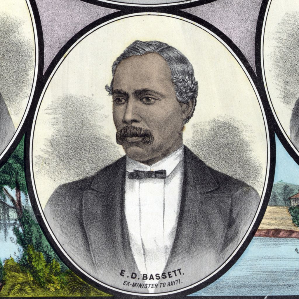Ebenezer D. Bassett (1833-1908) was an African American who was appointed United States Ambassador to Haiti in 1869. He was the first African-American diplomat. (Getty Images)