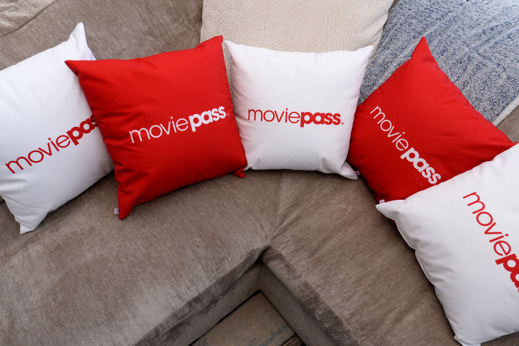 A view of signage at the MoviePass House Park City during Sundance 2018 on January 21, 2018 in Park City, Utah.  (Photo by Daniel Boczarski/Getty Images for MoviePass)