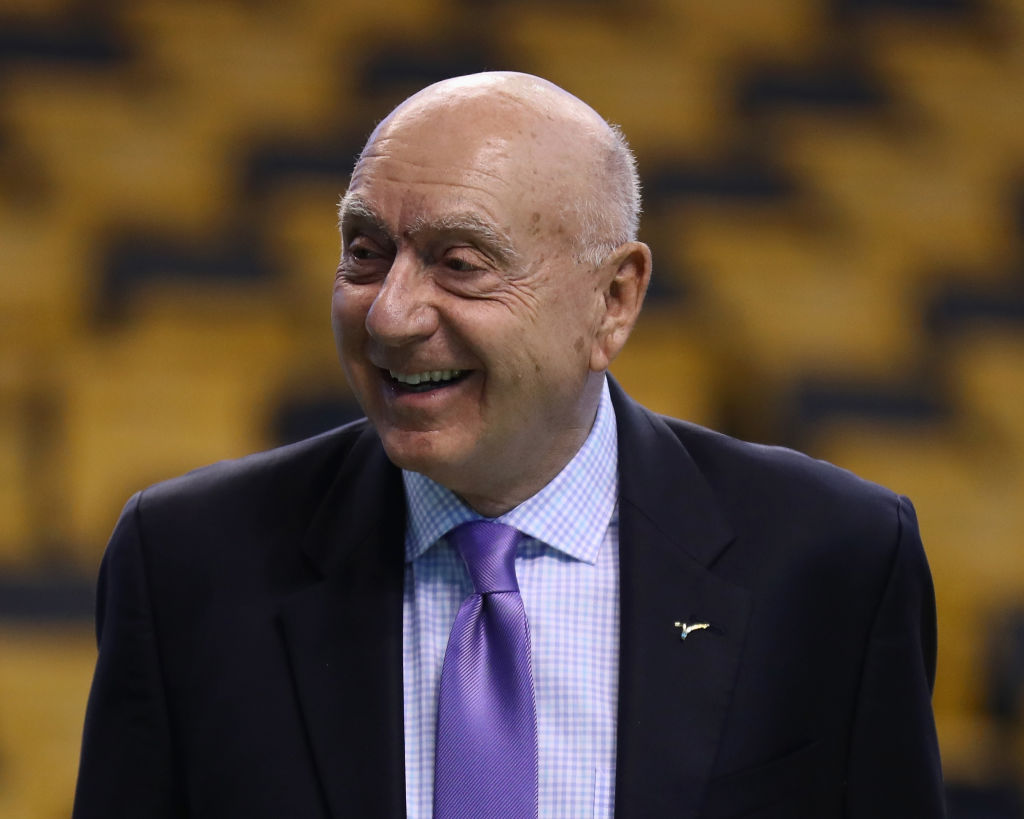 BOSTON, MA - FEBRUARY 14:  Commentator Dick Vitale looks on before action between the Boston Celtics and the LA Clippers at TD Garden on February 14, 2018 in Boston, Massachusetts. (Photo by Omar Rawlings/Getty Images)