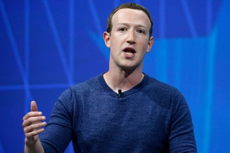 PARIS, FRANCE - MAY 24:  Facebook's founder and CEO Mark Zuckerberg speaks to participants during the Viva Technologie show at Parc des Expositions Porte de Versailles on May 24, 2018 in Paris, France. (Photo by Chesnot/Getty Images)