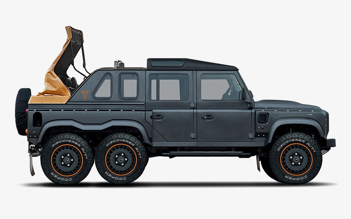 Just a Six-Wheeled Defender With a Convertible Top, NBD