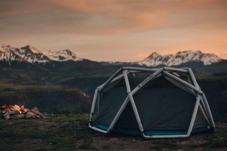 Inflatable Tent Sleeps Four, Conquers All Seasons