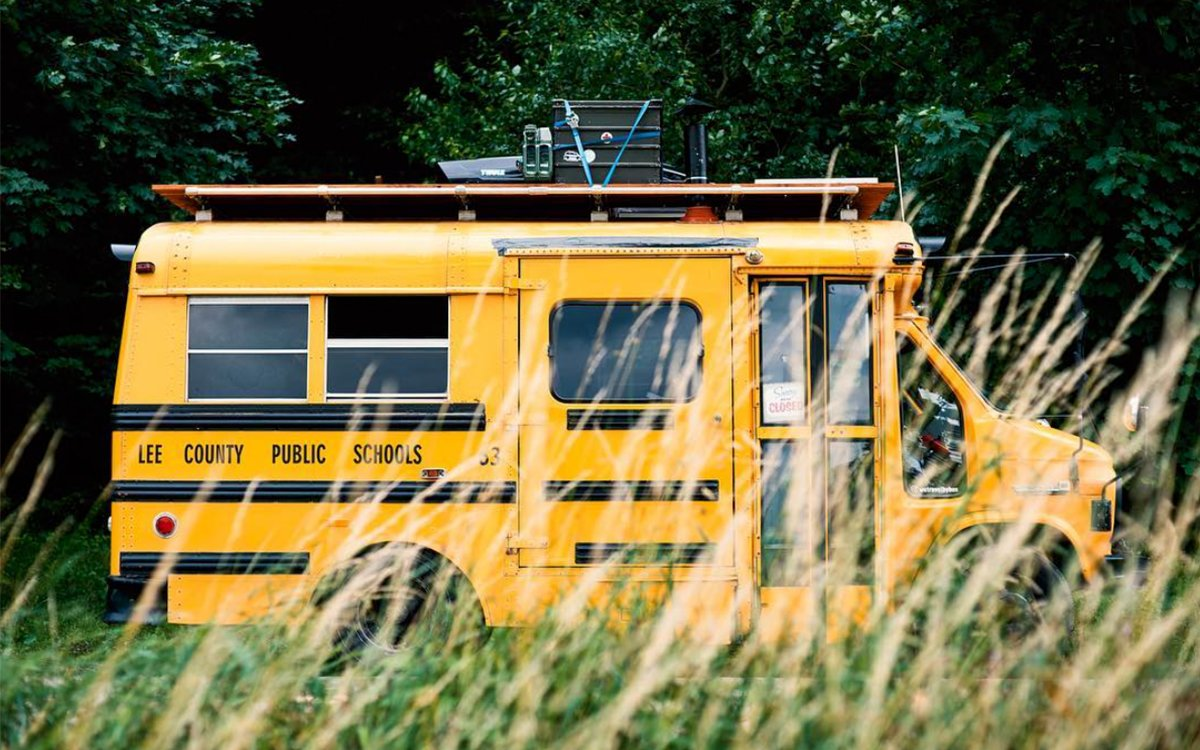 This Decommissioned School Bus Is Now a World-Class Surfmobile