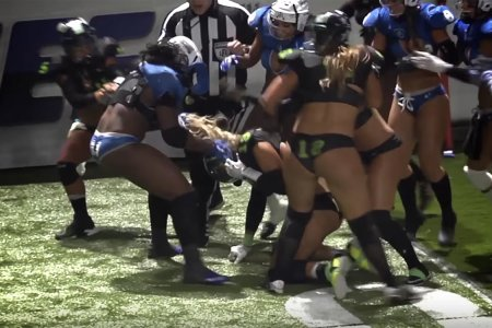 So There Was a Bench-Clearing Brawl at a Lingerie Football League Game