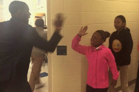 Coolest Teacher in America Has Secret Handshakes with All of His Students