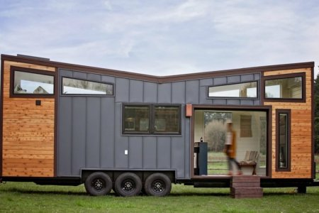 It's a Tiny Home With a Garage Door, and It's Ready to Party