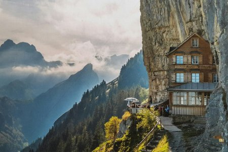 Switzerland's Most Picturesque Restaurant Is Up for Sale