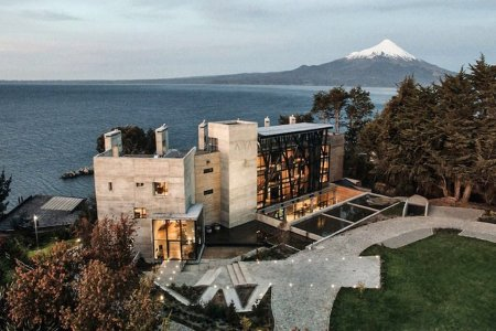 Why Is There a Swiss Ski Lodge on a Lake in Chile and How Did It Get There?
