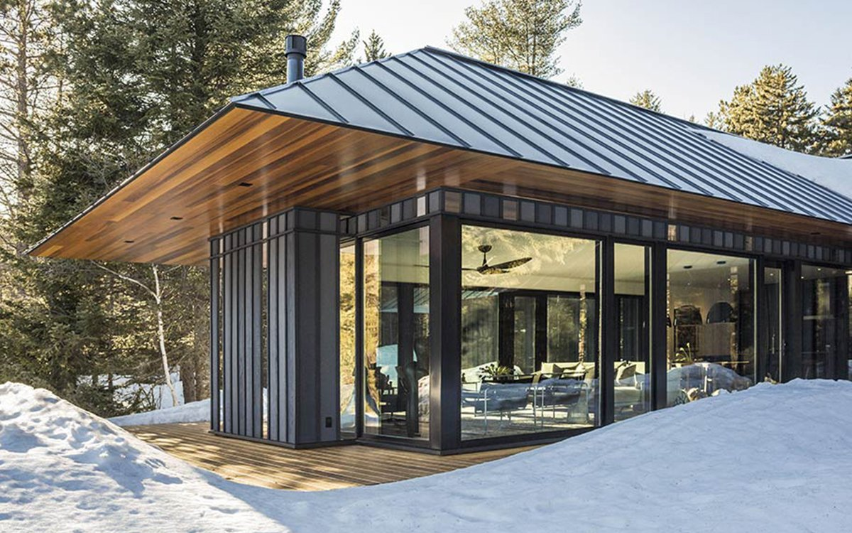 Glass Cabin in Vermont Has Something Log Cabins Don't: Views