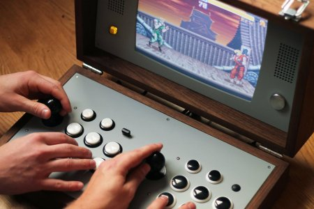 A Wooden Arcade Briefcase for Rethinking Your Work-Life Balance