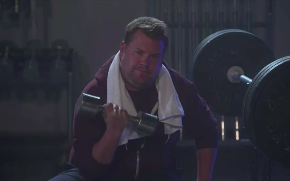 Kanye's New Video Girl and James Corden Had Fun With Oil Last Night