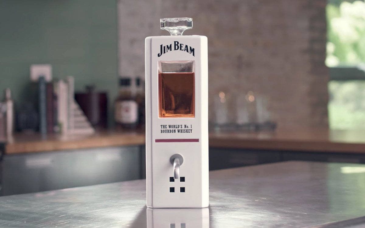 Jim Beam Made a Voice-Activated Bottle That Pours Shots