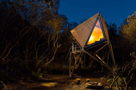 Not Sure Whether It's a Cabin or a UFO … but You Can Rent One