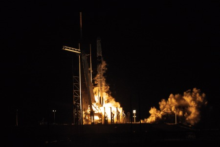 SpaceX's Falcon 9 rocket lifts off from Cape Canaveral with its Crew Dragon capsule aboard on March 2, 2019. This SpaceX mission was an unmanned test run for the next launch, where the Crew Dragon capsule will take astronauts to the International Space Station. (Photo credit: Diana Crandall, RealClearLife)