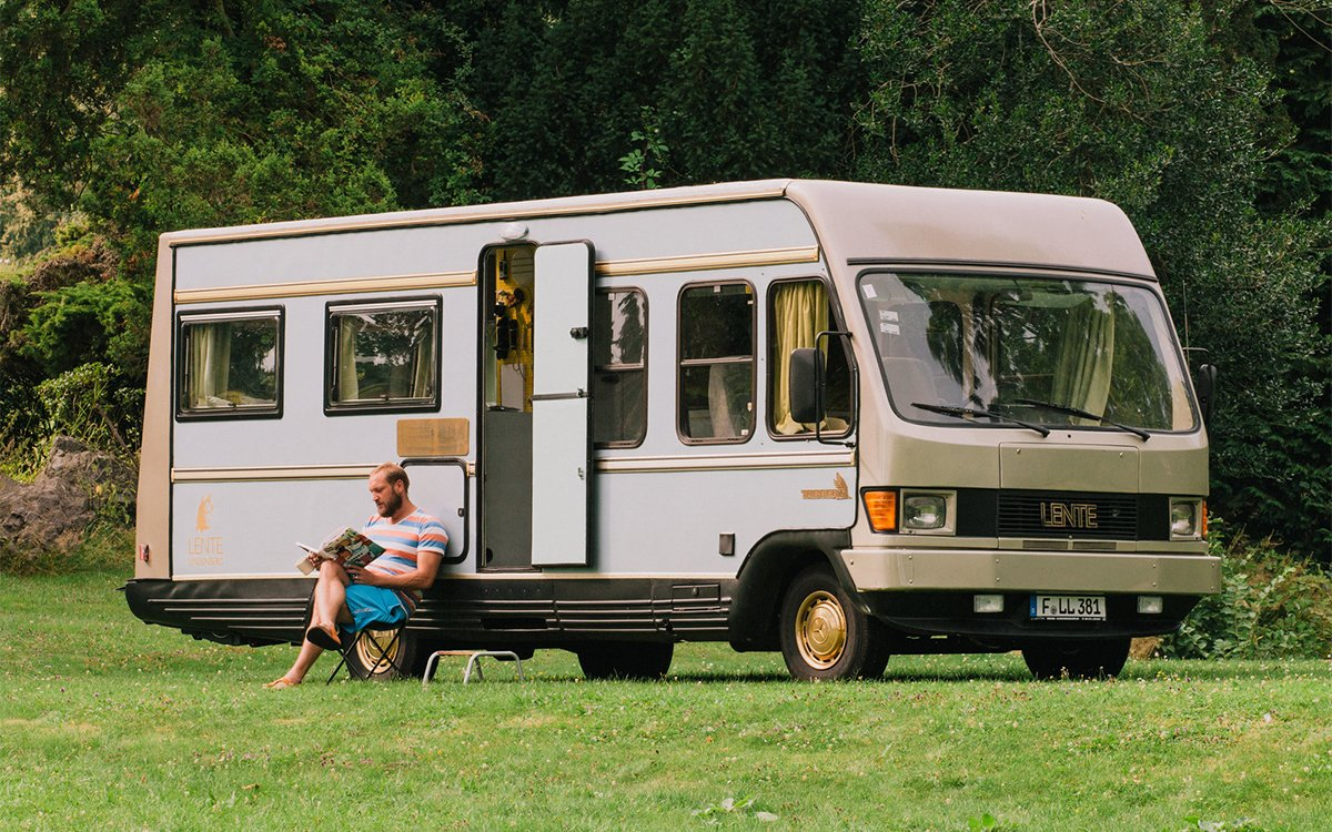 You Are Now Free to Move About the German Countryside in This Four-Speed 'Hotel Room'