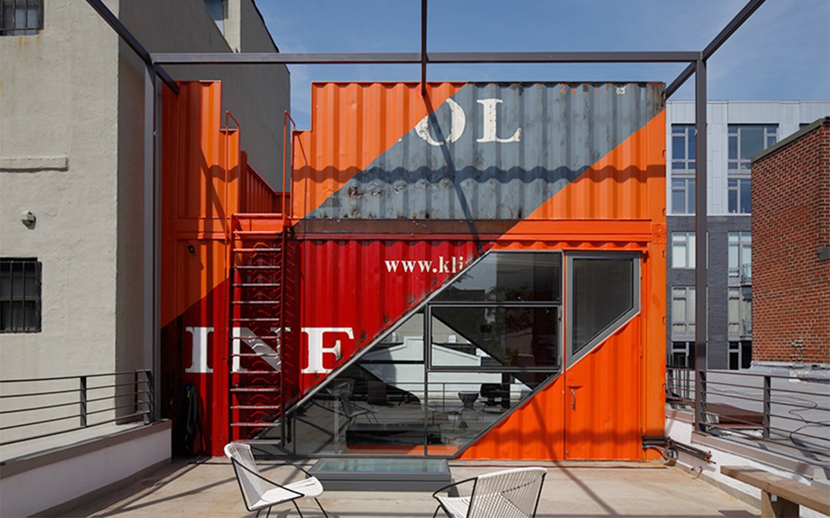 A Look Inside Brooklyn's New Rooftop Shipping Container Penthouse