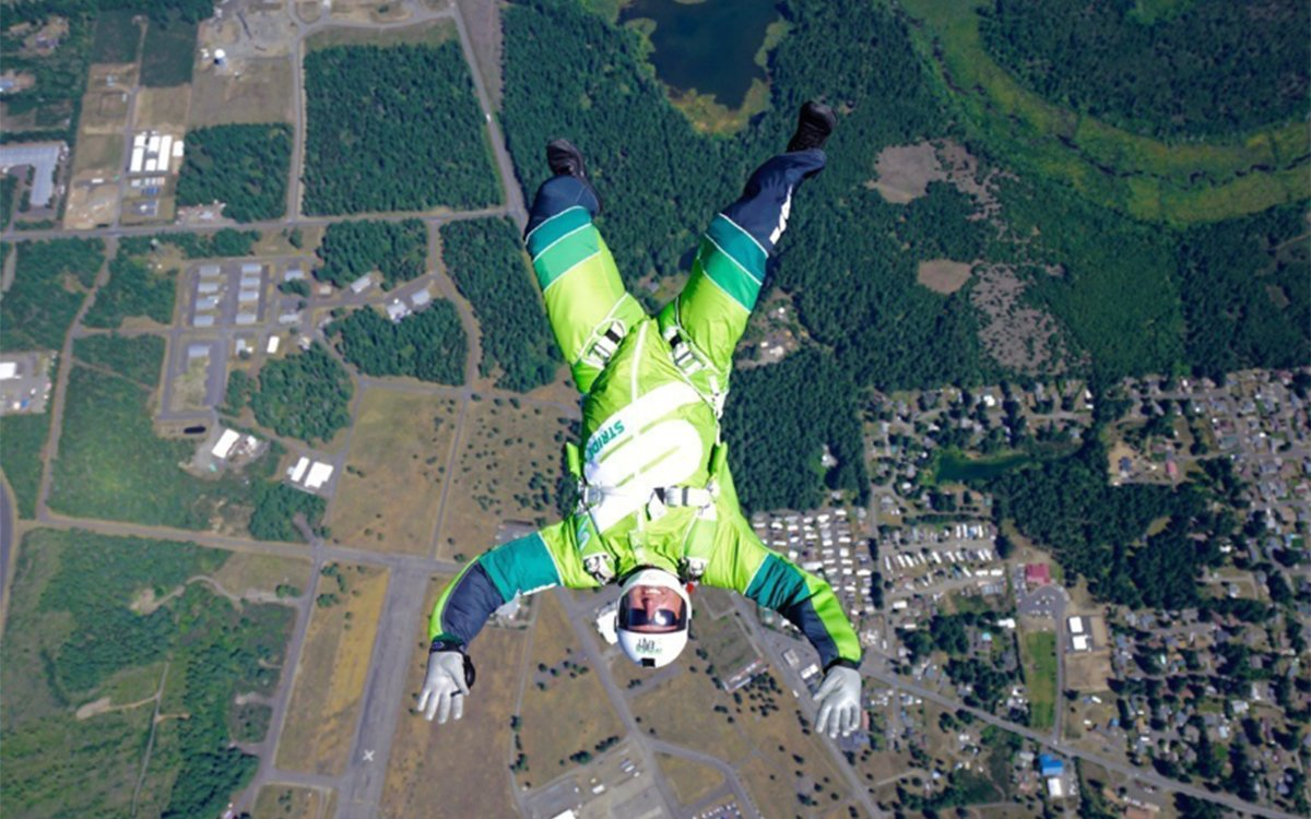 This Guy's About to Jump Out of a Plane Sans Chute or Wingsuit